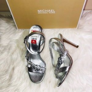 Michael Kors Tricia Metallic Sandals 9.5
